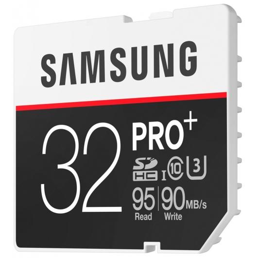 Samsung 32GB PRO+ SDHC (SD) Memory Card U3 95MB/s