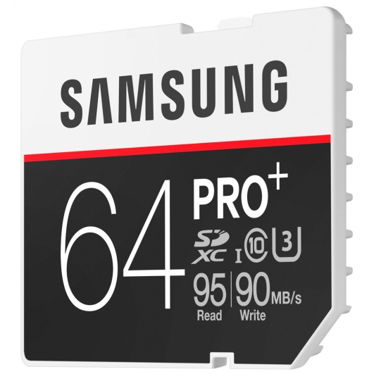 Samsung 64GB PRO+ SDXC (SD) Memory Card U3 95MB/s