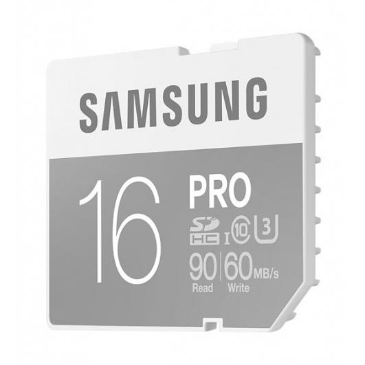 Samsung 16GB PRO SDHC (SD) Memory Card U3 90MB/s