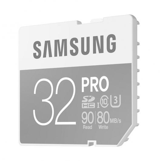 Samsung 32GB PRO SDHC (SD) Memory Card U3 90MB/s