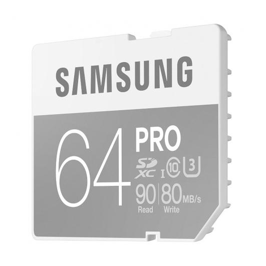 Samsung 64GB PRO SDXC Memory Card U3 90MB/s