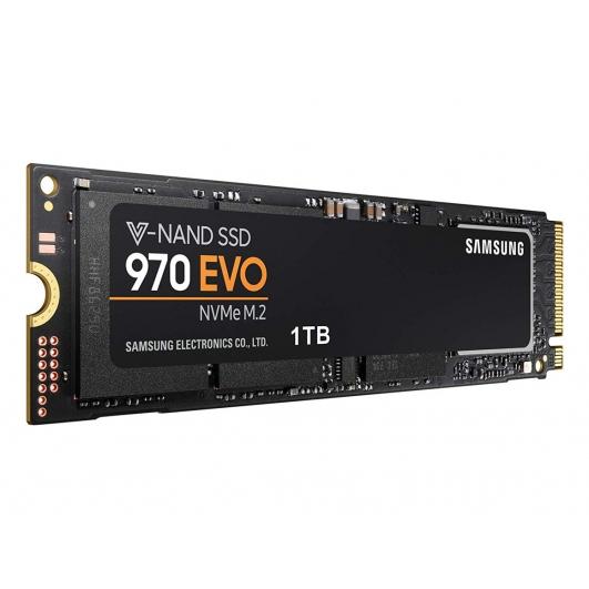 Samsung 1TB (1000GB) 970 EVO SSD M.2 (2280), NVMe, PCIe 3.0 (x4), 3400MB/s R, 2500MB/s W