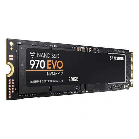 Samsung 250GB 970 EVO SSD M.2 (2280), NVMe, PCIe 3.0 (x4), 3100MB/s R, 1500MB/s W