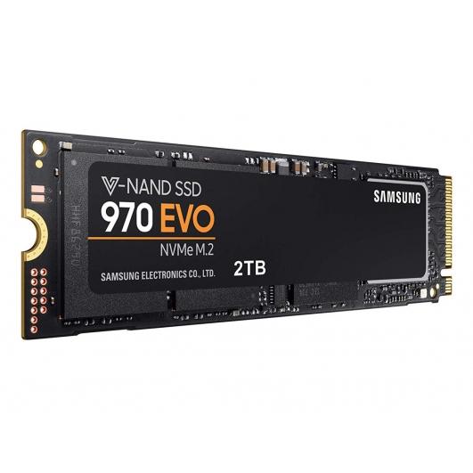 Samsung 2TB (2000GB) 970 EVO SSD M.2 (2280), NVMe, PCIe 3.0 (x4), 3500MB/s R, 2500MB/s W