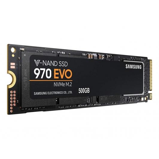 Samsung 500GB 970 EVO SSD M.2 (2280), NVMe, PCIe 3.0 (x4), 3400MB/s R, 2300MB/s W