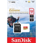 SanDisk 32GB Extreme Action Cam Micro SD (SDHC) Card U3, V30, 90MB/s R, 60MB/s W