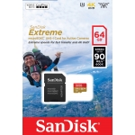 SanDisk 64GB Extreme Action Cam Micro SD (SDXC) Card U3, V30, 90MB/s R, 60MB/s W