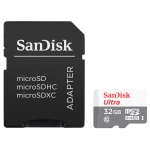 SanDisk 32GB Ultra Micro SD (SDHC) Card, Inc Adapter, 80MB/s R, 10MB/s W