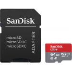 SanDisk 64GB Ultra Micro SD (SDXC) Card A1, 100MB/s R, 10MB/s W