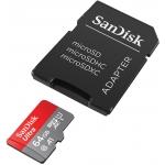 SanDisk 64GB Ultra microSDXC (microSD) Memory Card U1 100MB/s A1