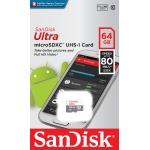 SanDisk 64GB Ultra microSDXC (microSD) Memory Card U1 80MB/s