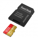 SanDisk 64GB Extreme Micro SD (SDXC) Card U3, V30, A1, 100MB/s R, 60MB/s W