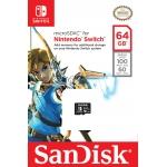 SanDisk 64GB Nintendo Switch microSDXC (microSD) Memory Card U3 100MB/s