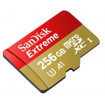 SanDisk 256GB Extreme microSDXC Memory Card U3 100MB/s V-Class 30 A1