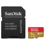 SanDisk 1TB (1000GB) Extreme Micro SD (SDXC) Card U3, V30, A2, 160MB/s R, 90MB/s W