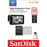 SanDisk 32GB High Endurance Micro SD (SDHC) Card U3, V30, 100MB/s R, 60MB/s W