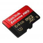 SanDisk 64GB Extreme Pro Micro SD (SDXC) Card UHS-II U3, 275MB/s R, 100MB/s W