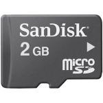 SanDisk 2GB Micro SD Card 4MB/s W + Adapter