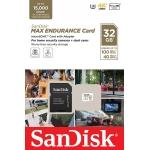 SanDisk 32GB MAX ENDURANCE Micro SD (SDHC) Card U3, V30, 100MB/s R, 40MB/s W