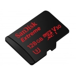 SanDisk 128GB Extreme Micro SD (SDXC) Card U3, V30, 90MB/s R, 60MB/s W