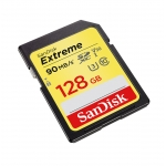 SanDisk 128GB Extreme SDHC (SD) Memory Card U3 90MB/s V-Class 30