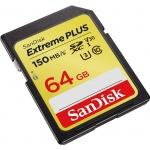 SanDisk 64GB Extreme Plus SDXC (SD) Card U3 V30 150MB/s R 70MB/s W