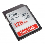 SanDisk 128GB Ultra SD (SDXC) Card 80MB/s R, 10MB/s W