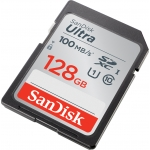 SanDisk 128GB Ultra SD (SDXC) Card 100MB/s R, 10MB/s W