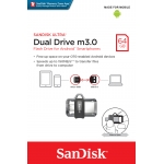 SanDisk 64GB USB 3.0 Ultra Dual M3.0 OTG Micro USB Memory Stick Flash Drive