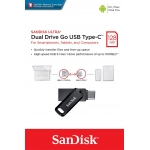 SanDisk 128GB Ultra Dual Drive Go Type-C Flash Drive USB 3.1, Gen1, 150MB/s